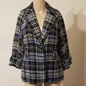Grace Elements Tweed Jacket New With Tags